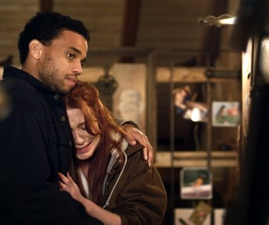A still of Michael Ealy and Lynn Collins in Unconditional (2012) Photo Courtesy:Harbinger Media Partners
