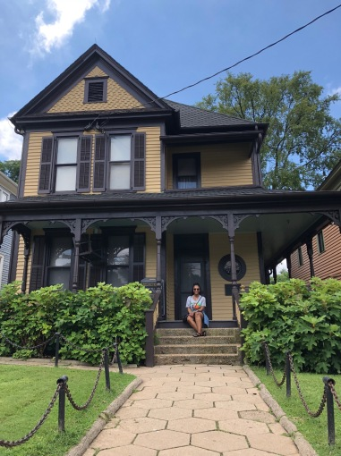 Me sitting on the porch of Martin Luther King Jr's childhood home in Atlanta, GA.