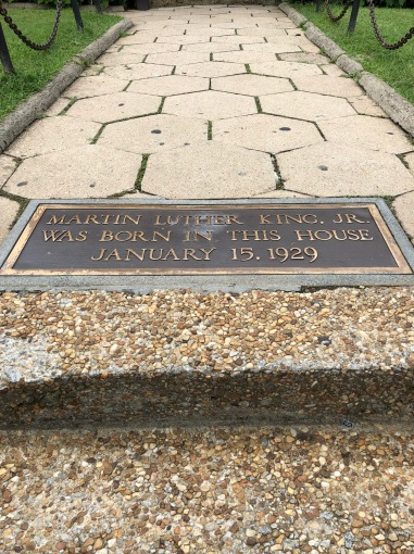 An inscription on the steps at MLK's childhood home.