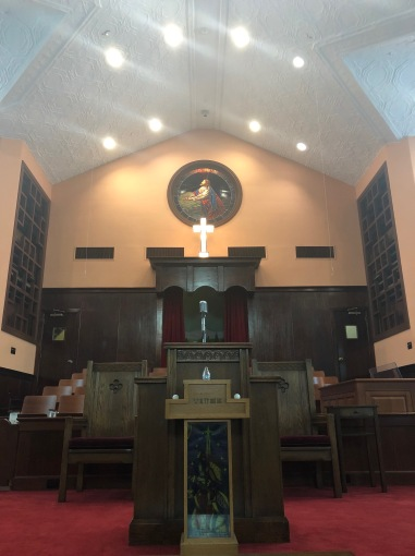 An image I took of the pulpit within Ebenezer Baptist Church.