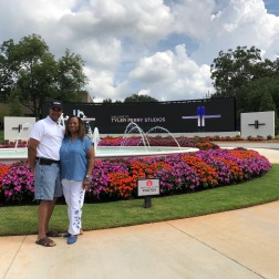 My parents cheesing in front of Tyler Perry's Studios. Unfortunately, we didn't get to do a tour :(